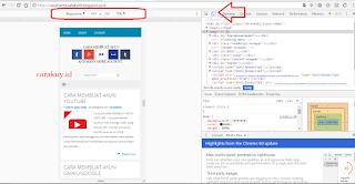 Cara cek responsive menggunakan Google Chrome