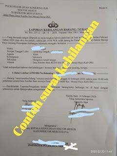 Syarat dan Penanganan Surat Kehilangan Barang pada Kantor kepolisian