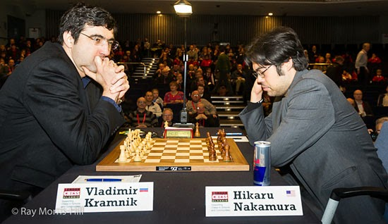 Kramnik bat Nakamura sur la variante Petrossian de l'Est-Indienne - Photo © site officiel
