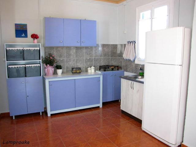 Ανακαίνιση εξοχικού-η κουζίνα.