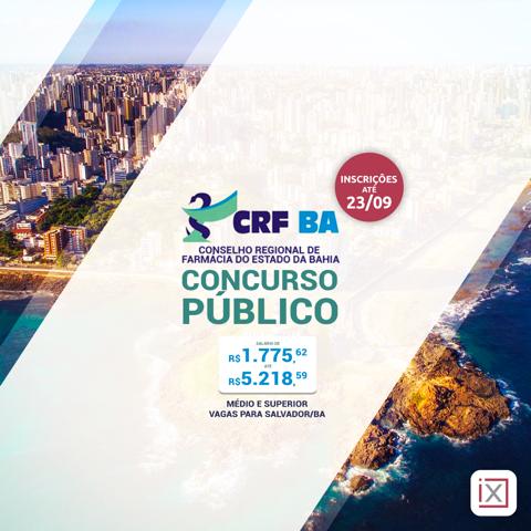 inscrições concurso CRF-BA 2019