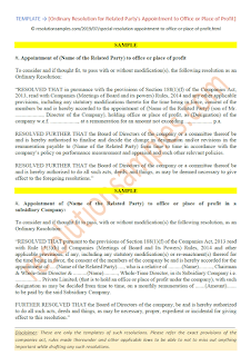 ordinary resolution for office or place of profit section 188 (1)(f)