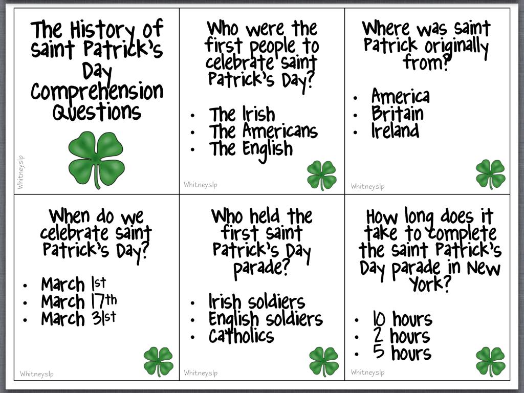 St Patrick S Day Irish Jokes Limericks Riddles One