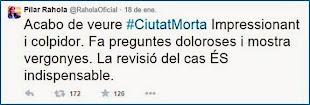 Tuit de Pilar Rahola (18 enero 2015)
