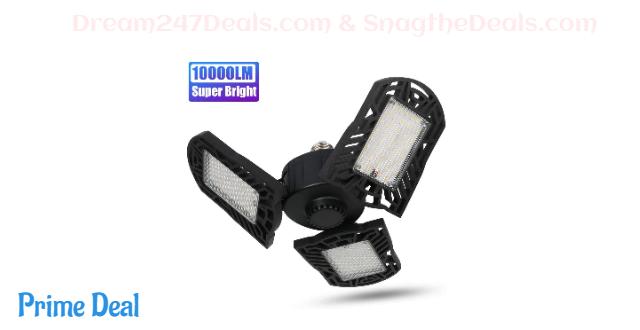 55% OFF Super Bright 10000LM LED Garage Light with E26 Screw Base