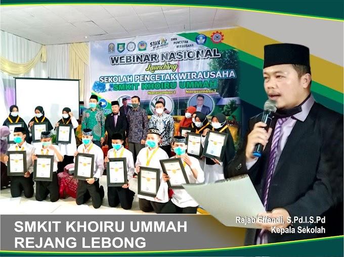 SMKIT Khoiru Ummah sebagai Sekolah Pencetak Wirausaha berhasil mencetak para entrepreneur muda Berkarakter & Religius