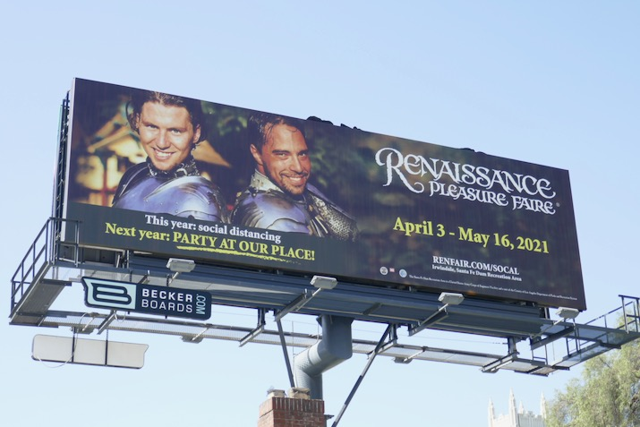 Renaissance Pleasure Faire 2020 cancelled billboard