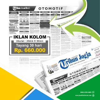 Paket Murah Iklan kolom koran tribun jogja