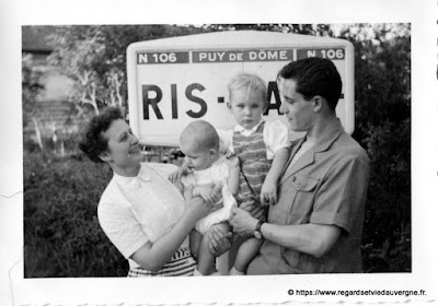 Panneau routier : Ris, N106.