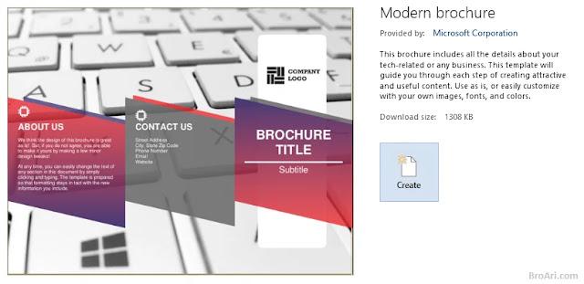 Cara Cepat Membuat Brosur di Microsoft Word