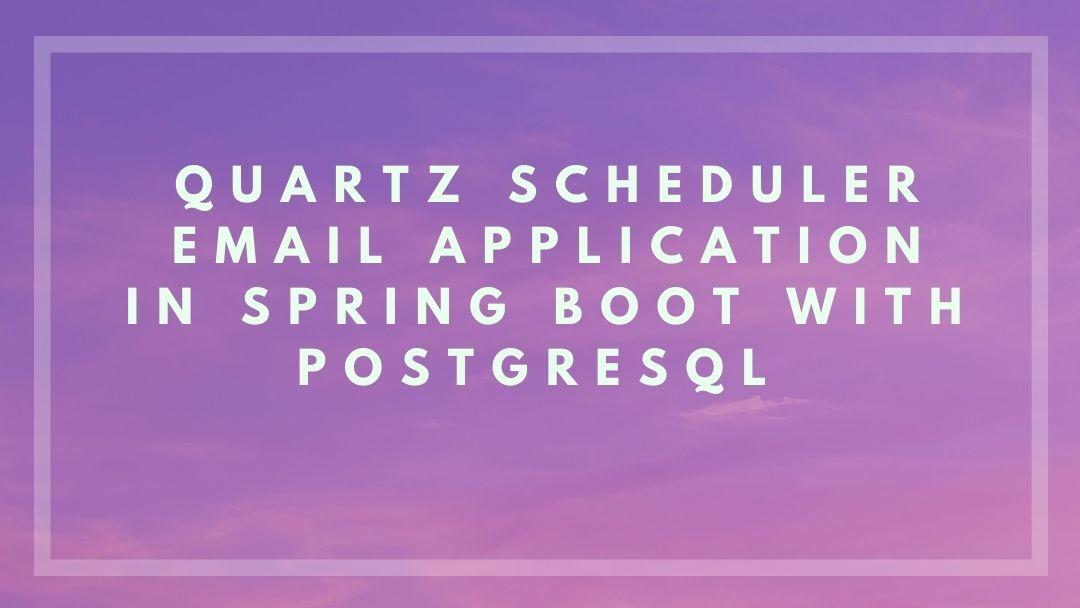 spring boot quartz job scheduling