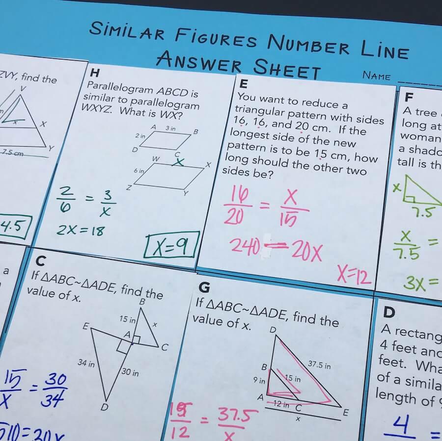 12 Ideas for Teaching Similar Triangles   Mrs. E Teaches Math [ 899 x 900 Pixel ]
