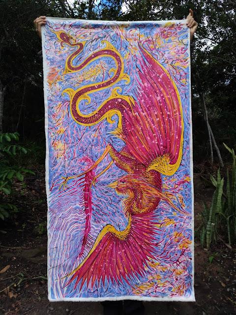 Cascavel Ribero - Obra Ave Chama - Arte Visual