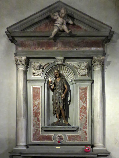 Painted wood Mary Magdalene by Desiderio da Settignano