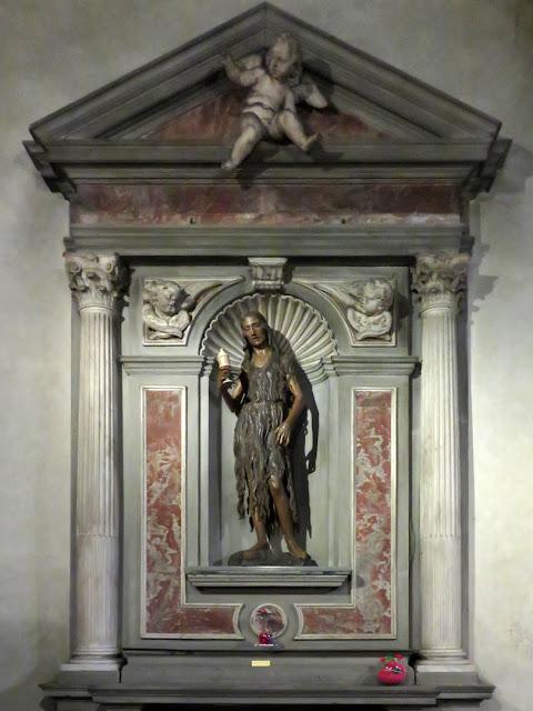 Painted wood Mary Magdalene by Desiderio da Settignano
