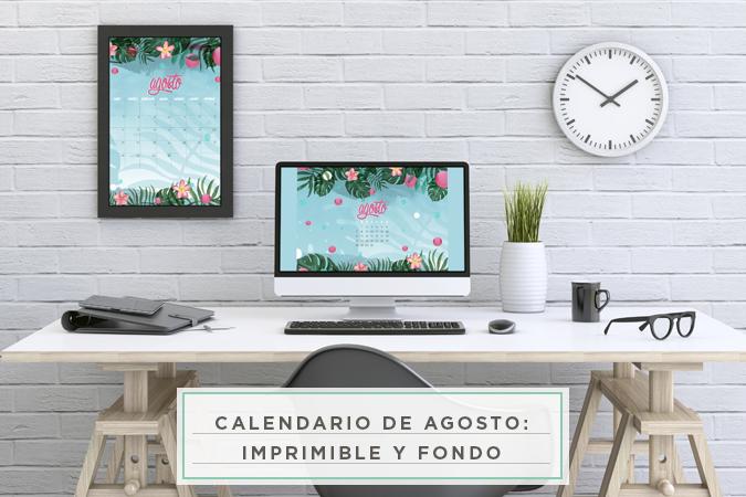 calendario agosto imprimible fondo pantalla