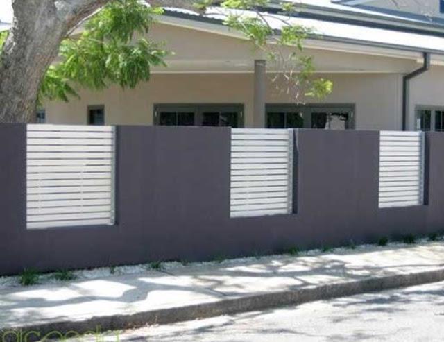 warna cat pagar beton minimalis terbaru