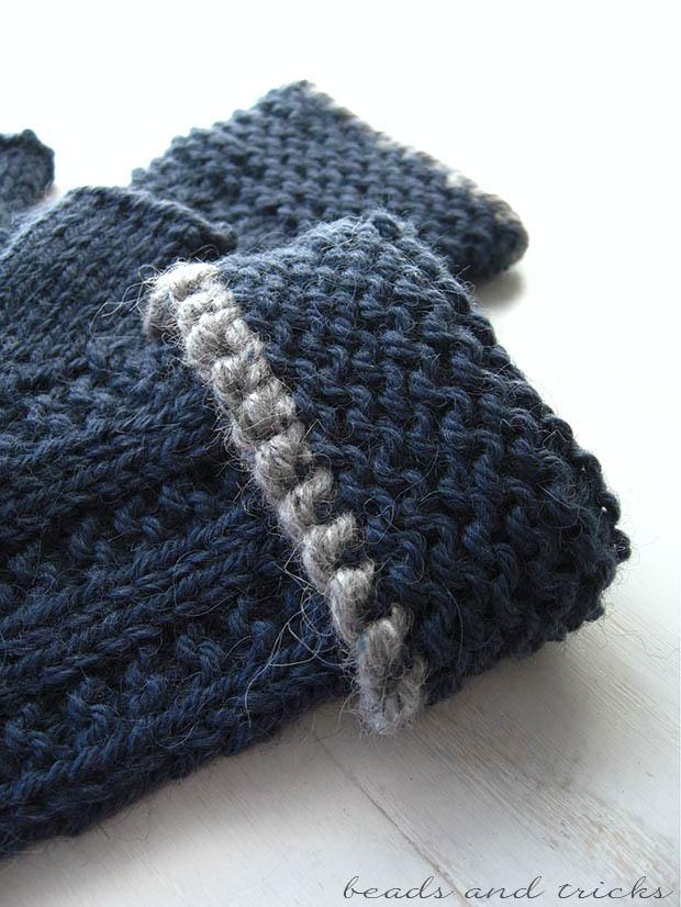 Guanti fingerless lavorati a mano a maglia