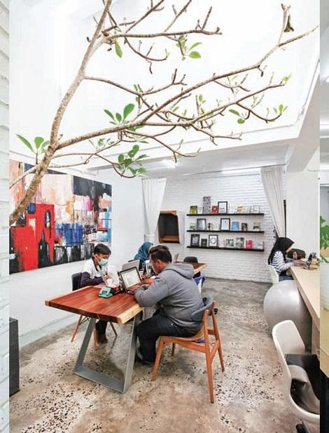 ruang kantor, coworking space
