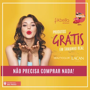 Brindes Grátis  -Produtos Beauty Color e Lacan na Fikbella Perfumaria