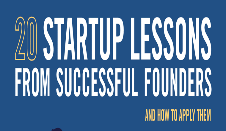 20 Start-up Lessons from Successful Founders (and How to Apply Them) #infographic