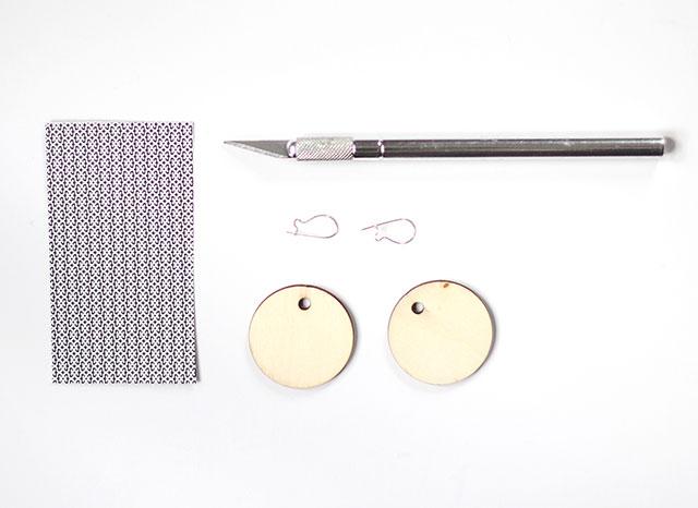 DIY Decoupaged Earrings: What you'll need