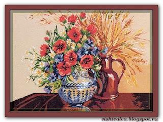 "Download embroidery scheme Rogoblen 7.16 ""Rustic Ikebana"""