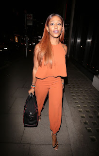 Alexandra Burke Arrives at Hakkasan Restaurant in London