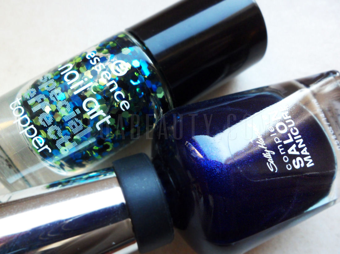 Sally Hansen 650 Navy Baby & Essence 13 Mrs and Mr Glitter