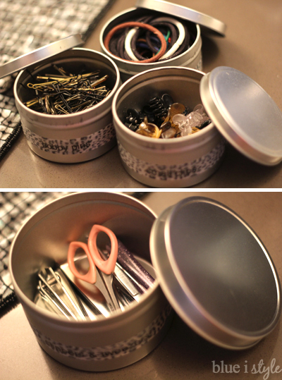 Organizing with seamless tins