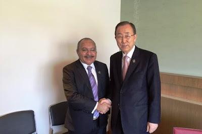 Perdana Menteri PNG Peter Paire O'Nell Bertemu Sekjen PBB Bicarakan Referendum