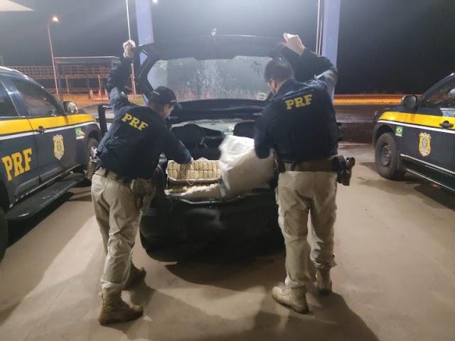 PRF apreende 149,6 Kg de maconha em Eldorado (MS)