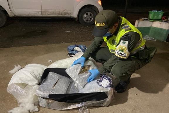 hoyennoticia.com, En Bosconia cayeron seis kilos de marihuana