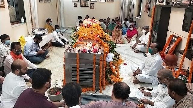 """युध्दवीर की अंतिम यात्रा : """"जिन कंधों को युध्दवीर ने मजबूत किया,आज वही देंगे उन्हें """"कांधा"""" गमगीन माहौल में """"राजकीय सम्मान"""" के साथ होगी अंतिम विदाई,लगा दिग्गजों का जमावड़ा,"""
