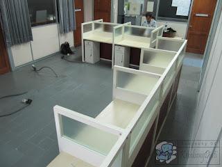 meja cubicle Knockdown  Meja partisi bongkar pasang  Furniture semarang
