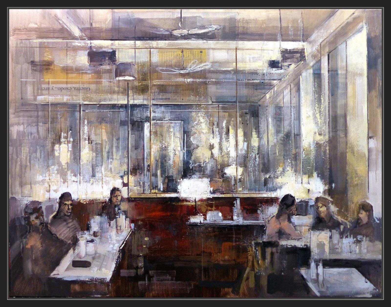 Ernest descals artista pintor bodegon pintura cafeteria - Cuadros de interiores ...