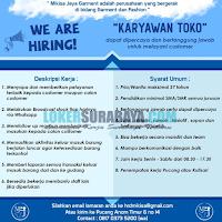 Tantangan Kerja Surabaya di Mikisa Jaya Garment Terbaru November 2019