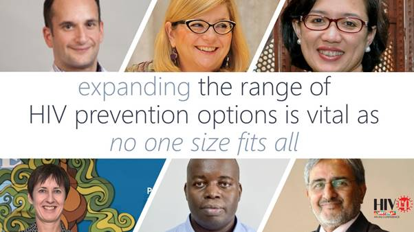 Expanding range of options to prevent HIV is key as no one size fits all