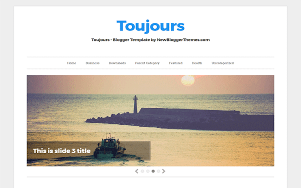 Toujours Free Blogger Template