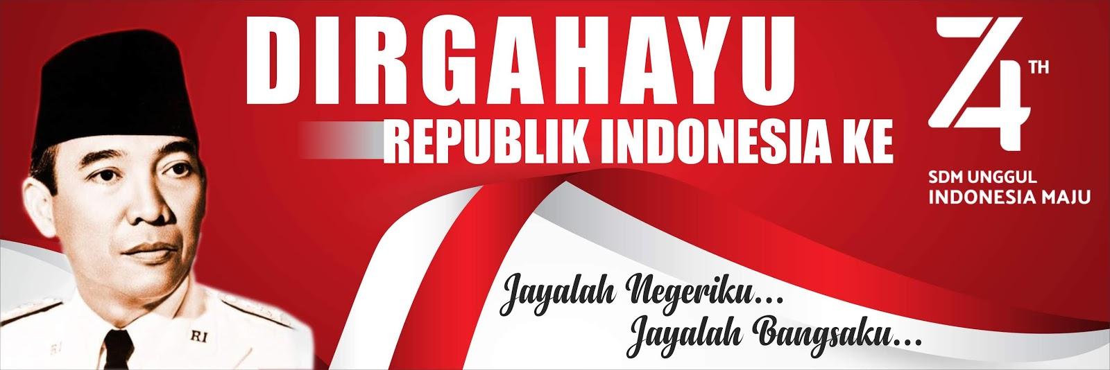 Contoh Desain Banner Dan Logo Resmi Hut Ri Ke 74 Cdr Mas Rikhi Web
