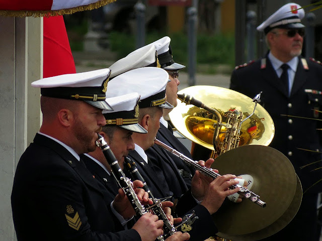Italian Navy brass band, Foreign Navies ceremony, Livorno