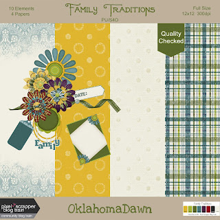 Pixel Scrapper Nov. 2018 Blog Train - Family Traditions Mini