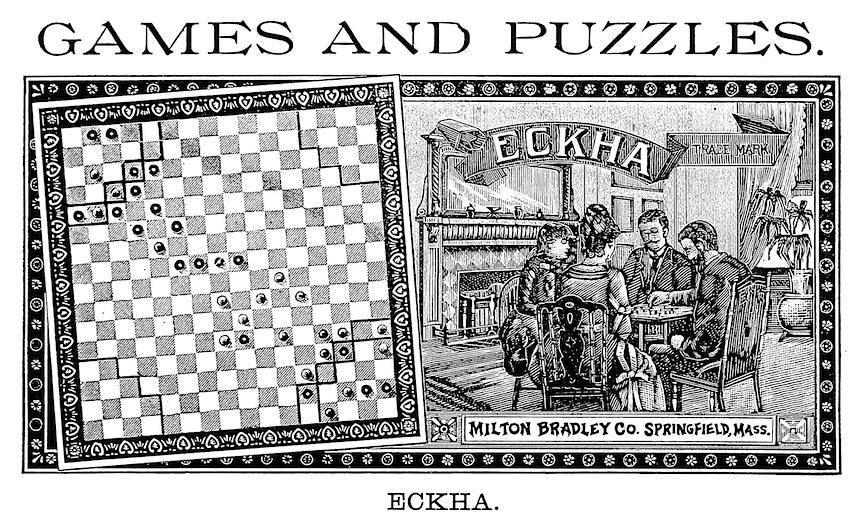 ECKHA, Milton Bradley 1889 advertisement