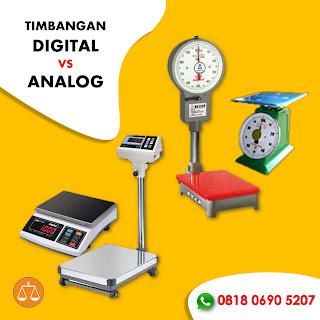 Timbangan analog vs Timbangan Analog