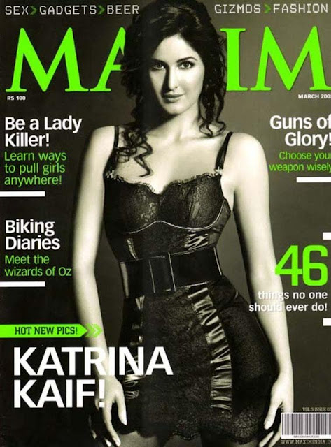 Katrina Kaif on Maxim Magazine Cover March 2008