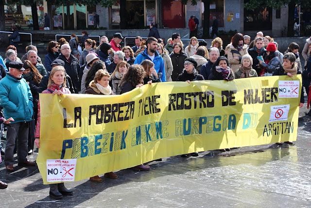 Concentración del 8 de Marzo en 2016 en Barakaldo