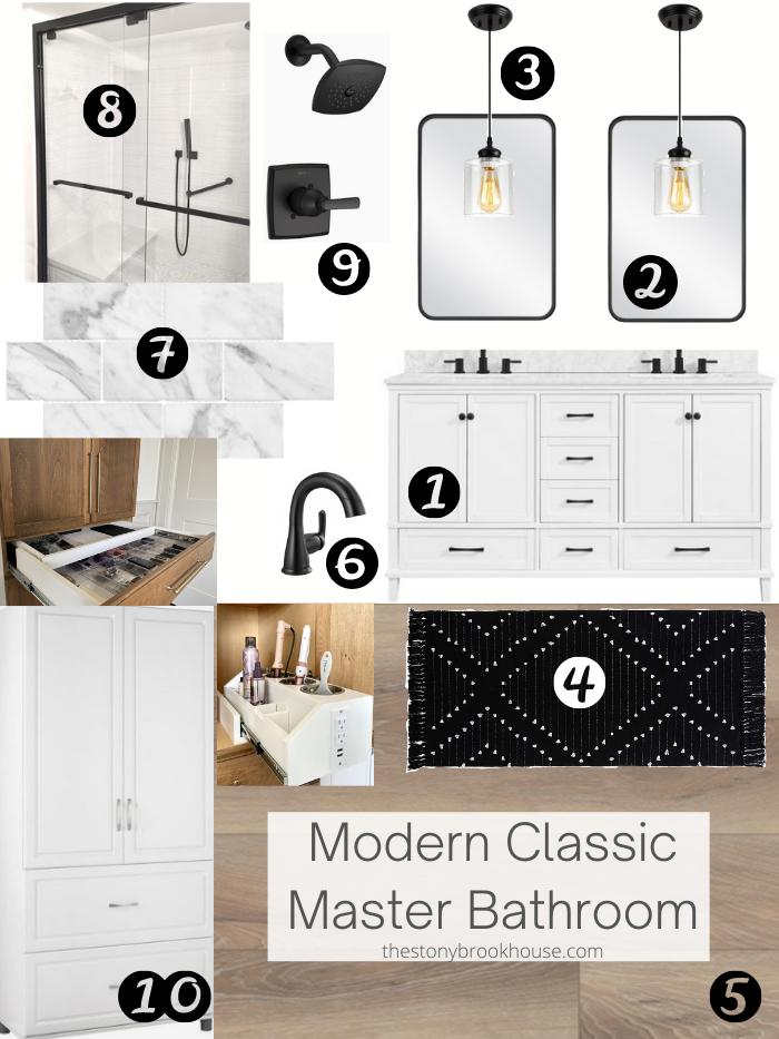 Master Bathroom Design & Mood Board