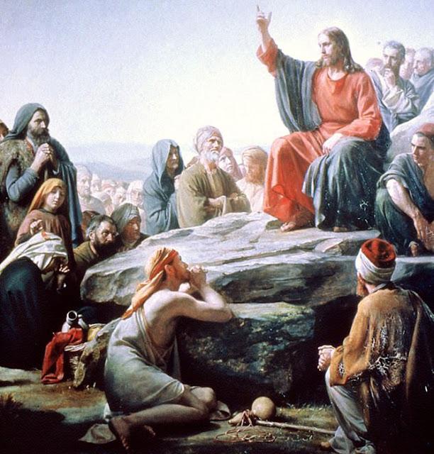 Jesus cabelos longos e pele clara