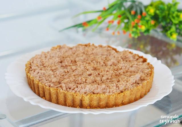 torta crumble de maçã