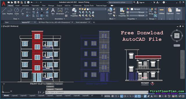 Front Elevation 2D Designs